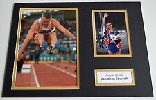 Jonathan Edwards Signed autograph 16x12 photo display Olympics 2000 Aftal & Coa
