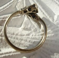 Niger Tuareg size hand engraved ring with square bases UKQ