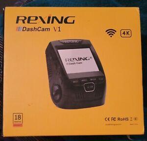"NEW Rexing V1 4K Ultra HD Car Dash Cam 2.4"" LCD Screen, Wi-Fi, 170° Wide Angle"