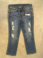 ED HARDY STRESSED JEANS by CHRISTIAN AUDIGIER, 28/27 UNUSED, BAGGED & TAGGED. #1