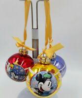 Vintage Disney Christmas ornaments Set of 3 glass Mickey, Minnie,Pluto