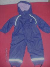Schneeanzug mit abknöpfbarer Kapuze, Gr. 74/80 für Mädchen, lila