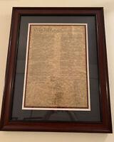 Constitution of the United States (replica) in elegant frame