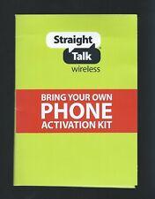 Straight Talk - At&T Nano Sim card for unlocked Gsm Phones