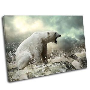 Polar Bear Landscape Animal Canvas Wall Art Print Picture 5