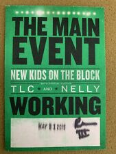 Nkotb New Kids On The Block Tlc Nelly The Main Event Tour Backstage Pass 2015