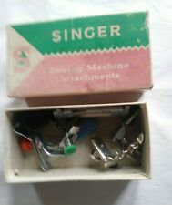 SINGER Sewing Machine Attachments in box. SIMANCO. HABERDASHERY. VINTAGE