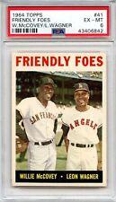 1964 Topps Friendly Foes #41 Willie McCovey / Leon Wagner, PSA 6