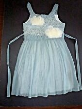 10 Girls Boutique ISOBELLA & CHLOE Sheer Silver Gray Tulle Corsage Party Dress