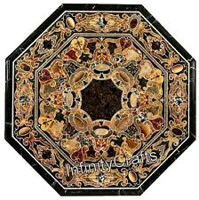30 Inches Marble Patio Coffee Table Top Handcrafted Center Table with Mosaic Art