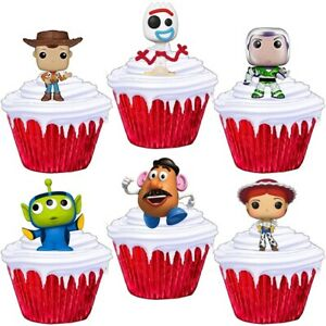 Toy Story Stand Up Cup Cake Toppers Edible Birthday Party Decorations