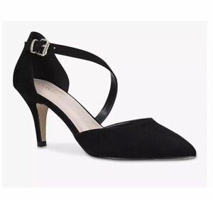 Carvela, Kitty Cross Strap Stiletto Heel Sandals, Black. Size 7. RRP£99