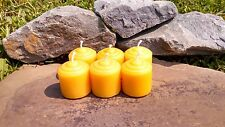 6 Hand Poured 100% Beeswax Mini Votive Candles All-Natural, Cotton Wick