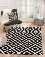 Area Rug ST46 Black White. Contemporary Modern. Size: 5x7 8x10 2x3 2x7