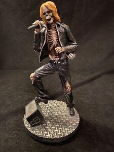 Summit Collection Resin Skull Figurine Punk Metal Rockstar Skateboard Skeleton