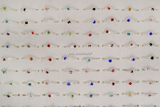 100ps wholesale joblot of assorted ladies silver CZ costume jewellery rings FREE