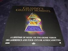 Rare Vintage 1994 GRAMMY'S GREATEST MOMENTS~ Music AWARDS Promo Flat Poster