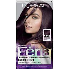 L'Oreal Feria Shimmering Permanent Hair Color M32 Violet Soft Black