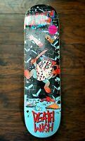 Deathwish Lizard King Death Toons Skateboard Deck 8.25 Kool-Aid Man Jason Mask