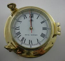 Brass Ships Marine Porthole Clock - Solid Brass Large - New - N82