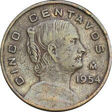 Mexico 5 Centavos Mo 1954 KM# 426. Dot. Scarce key date..