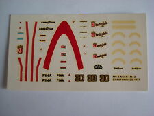 F1 DECALS KIT MC LAREN M23 F1 CHESTERFIELD 1/43 DECALS