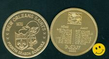 1970 NEW ORLEANS SAINTS - 4th Year Football Schedule Doubloon Coin-Falstaff Beer