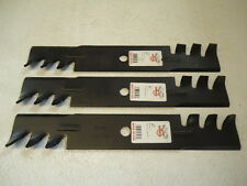 "NEW Set of 3 46"" 47"" 48"" Mower HD Mulching Blades for John Deere 314 316 317 318"