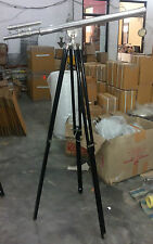 HUGE CHROME TELESCOPE DOUBLE BARREL GRIFFITH ASTRO WITH TRIPOD ROOM DECORATIVE