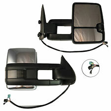 2013-14 Chevy GMC 1500/2500/3500 HD Chrome Power Heated LED Right Towing Mirror
