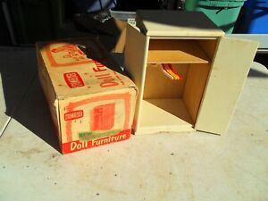 RARE VINTAGE STROMBECKER DOLL FURNITURE WARDROBE W/ORIGINAL BOX! NEEDS WORK