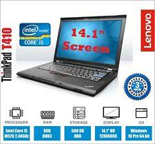 Lenovo ThinkPad T410 Laptop Core-i5 2.40Ghz 8GB Ram 500GB HDD Warranty DVD