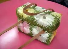 ORIGINAL Late 90's KATE SPADE Pretty WICKER PURSE-HANDBAG Colorful Flower Design