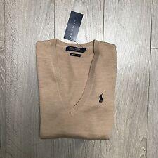BNWT Ralph Lauren Polo Ladies Merino Wool V Neck Jumper Size M RRP £125