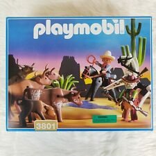 *NEW IN BOX* SEALED Vintage Playmobil Western Cowboys Watering Hole 3801 RARE!