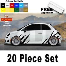 Abarth Punto Fiat 500 595 Spider Tiger Stripes Graphic Decal Sticker Badge