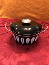 Catherineholm Black Lotus Covered Pot Casserole Pan With Lid Nice!
