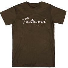 TATAMI Script T-shirt kaki Tee-Shirt Brésilien Jiu Jitsu Casual No-GI Top Casual...