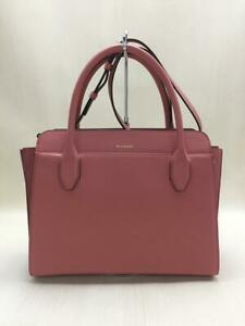 Bvlgari  Leather Pnk Leather Pink Fashion Tote bag 5498 From Japan