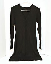 BCBG Max Azria Women's Dress Black Size Small Long Sleeve V Neck Stretchy