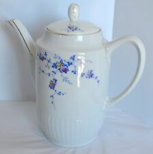Tirschenreuth Bavaria Porcelain Teapot Coffee Tea Pot Carafe Wild Blue Rose Vine