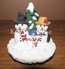 Our America Candle Topper - 2000 Snowman Family Topper