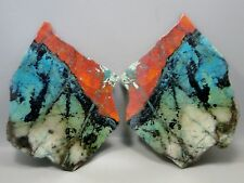 Stone Slabs Sonora Sunset Polished Pair 2 Matched Pieces Chrysocolla Cuprite #2