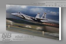 493rd FS, 48th FW RAF Lakenheath CANVAS PRINT, Digital Artwork.