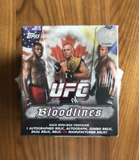 2012 Topps BLOODLINES UFC~Super Rare~Sealed Master Box~MMA