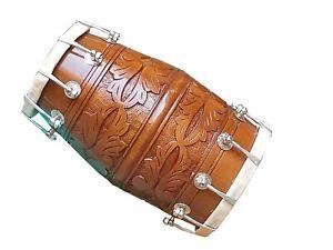 DHOLAK~NUT+BOLT~INDIAN FOLK MUSICAL DRUM~DESIGNER~KIRTAN~DANCING~WITH TUNING KEY