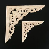 Classic Wood Carved Decal Onlay Applique Cabinet Craft Home Mouldings DIY Decor
