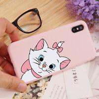 2pcs Cute Cat Soft Matte Case Protect Cover for iPhone 6s 7 8 Plus X XS MAX XR