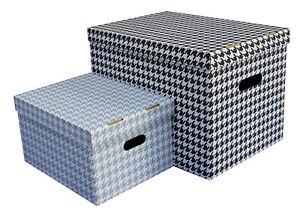 Aufbewahrungsbox mit Deckel PETIT Box Kiste Schachtel 15 und 47 L aus Karton