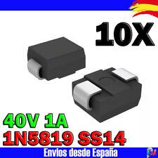 10x 1N5819 SS14 40V 1A - Diodo rectificador SMD DO-214AC Schottky Diodo